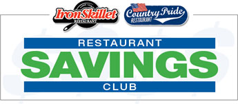 Country Pride & Iron Skillet Restaurant Savings Club
