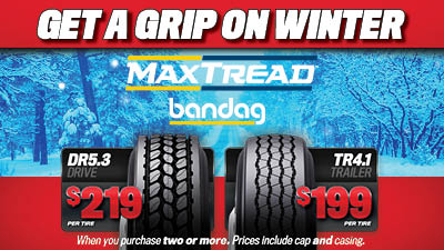 Bandag MaxTread retreads available at TA Truck Service