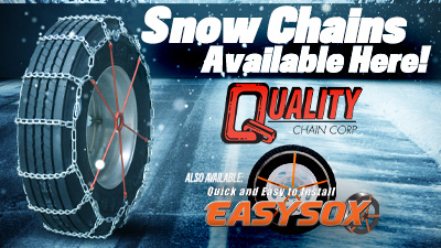 Get snow chains, tire socks and other winter accessories at TA Truck Service