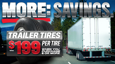 Take Care of Your Trailer with New Tires and Save