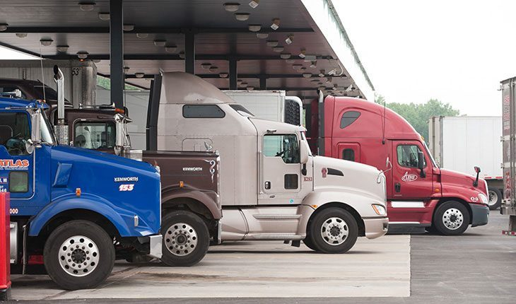 Trucks at Fueling Station