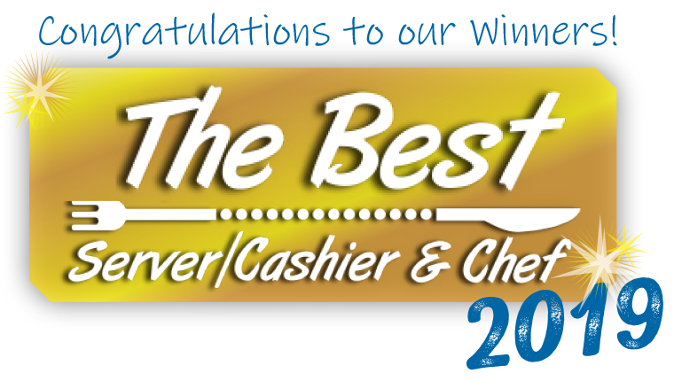 congratulations to our best server, cashier and chef of 2019 click to see winners