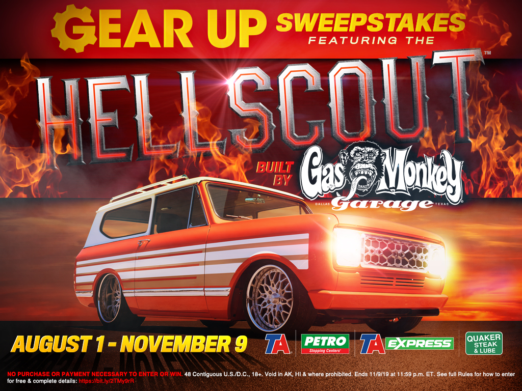 Gear Up Sweepstakes Covered Car