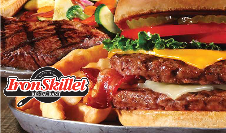 Iron Skillet Restaurant menu - comfort foods homemade in USA! click to visit https://www.ta-petro.com/assets/ce/Documents/Restaurant/IS_To-Go_Fall18%20REV.pdf