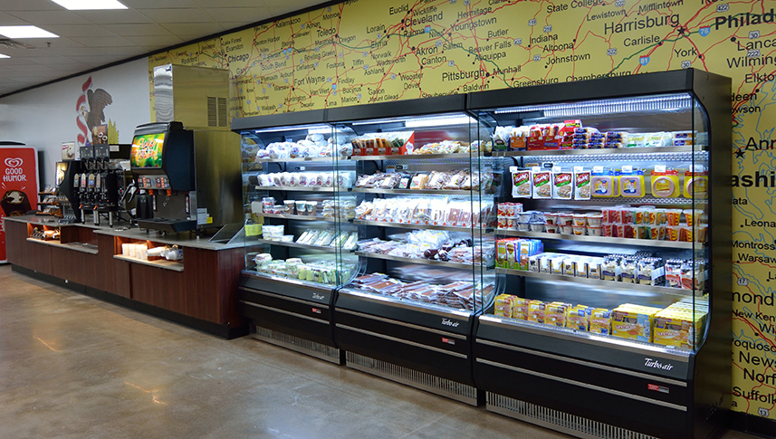 Our travel stores and fuel buildings great grab 'n go food options, roller grill products, freshly prepared salads and sandwiches and fresh fruit