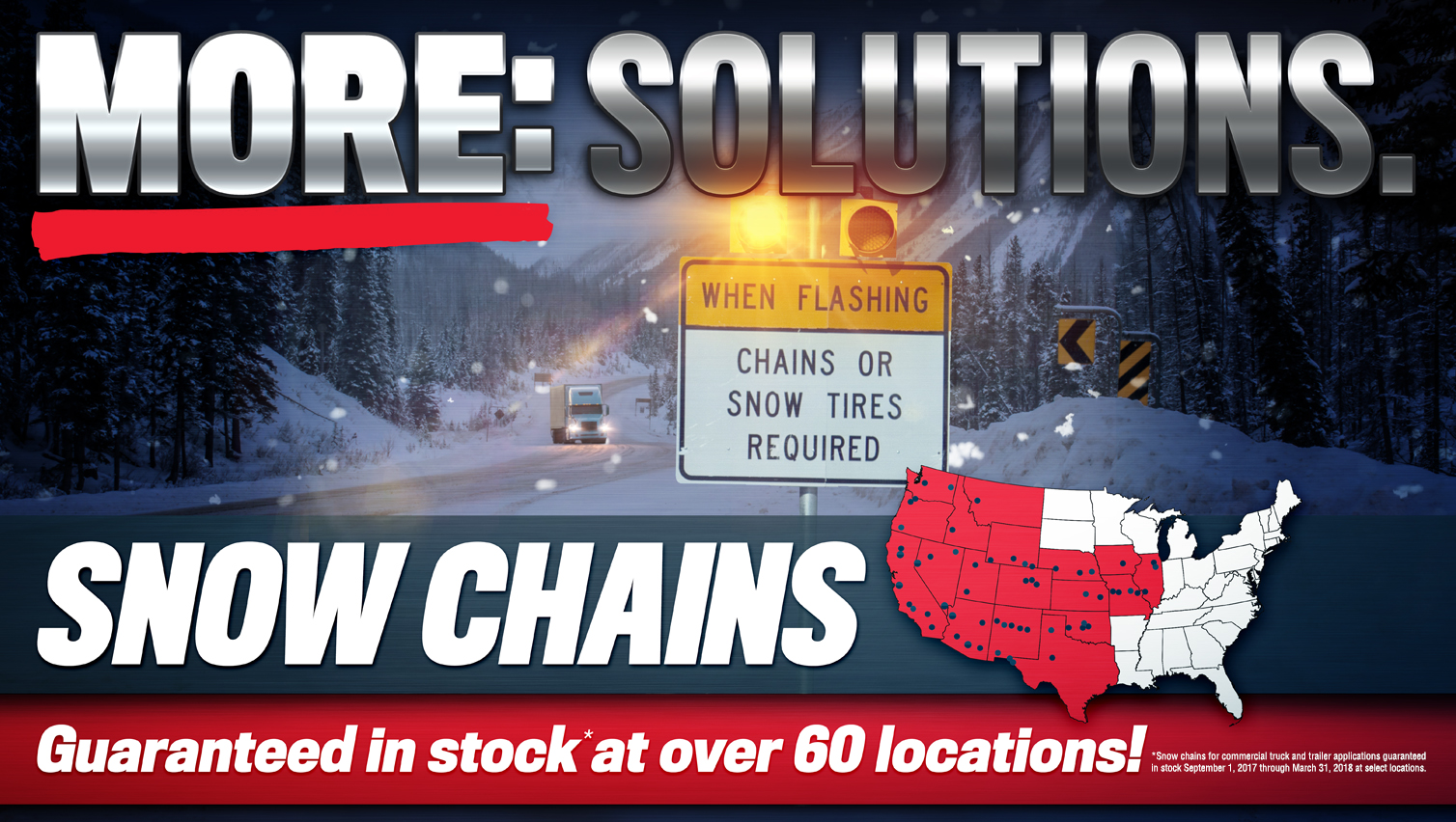 Snow chains available