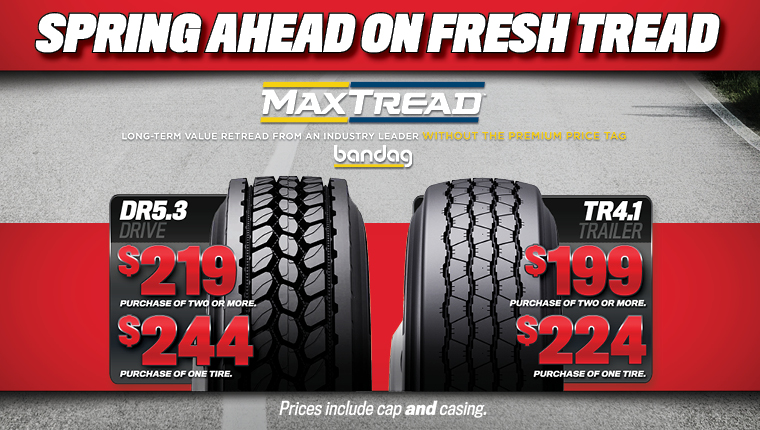 Get Bandag MaxTread tires at TA Truck Service.
