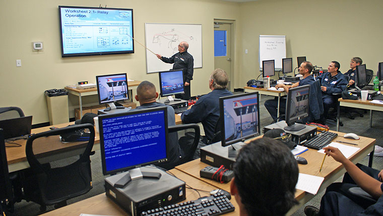 Photo of a technical training classroom