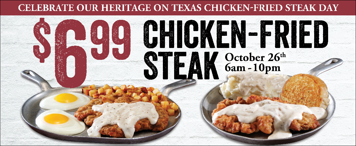 Chicken Fried Steak Day October 26th Travelcenters Of
