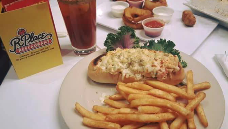 bloody mary, sub sandwich meal and fries click to view r place menu