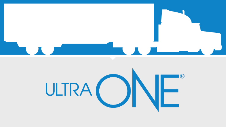 UltraONE truck silhouette graphic