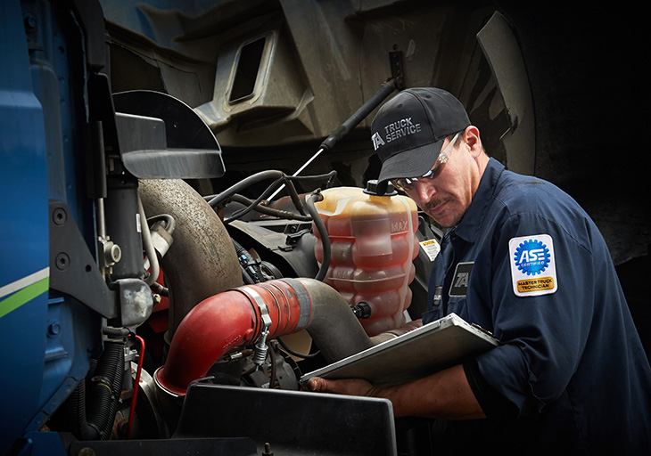Diesel technician inspection
