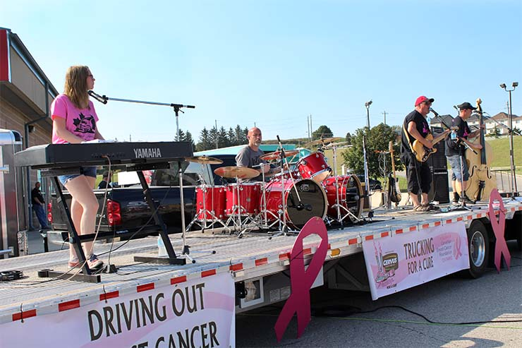 Live music at Trucking for a Cure