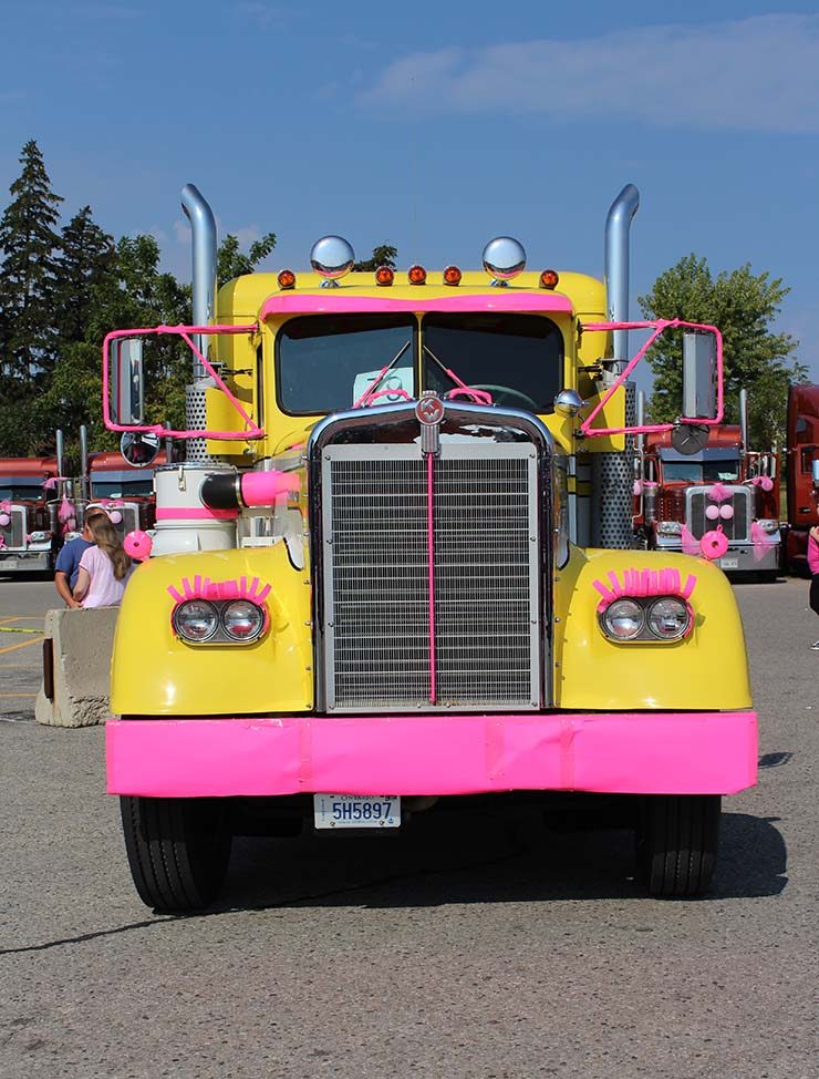Trucking for a Cure Eyelash Truck