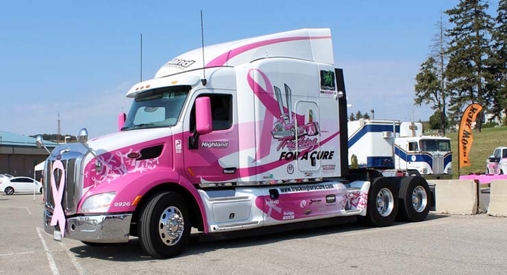 Trucking for a Cure truck