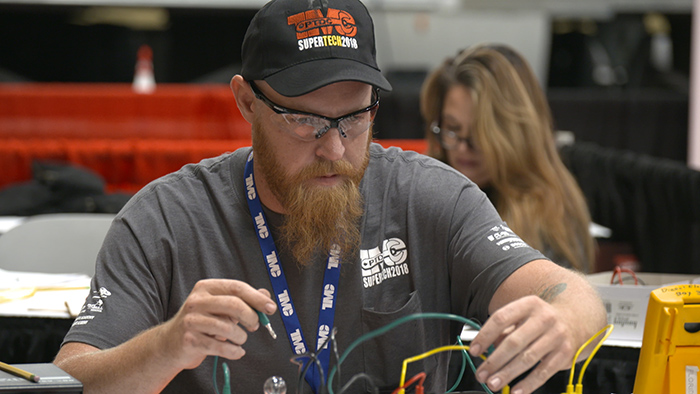 Technician at TMC SuperTech Diesel Mechanic Competition