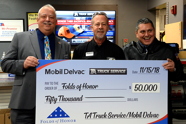 Presenting the Check to Folds of Honor