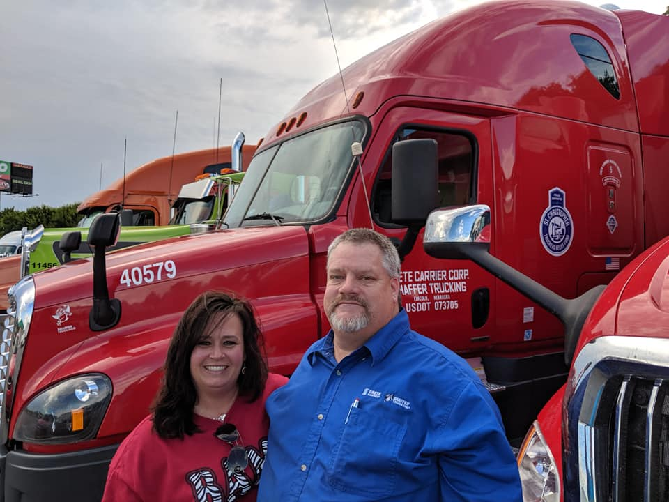 Back On The Road Trucker Fund S Shannon Currier And Crete