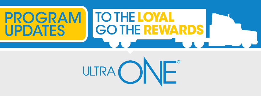 Image of semi-truck silhouette with text that says To the Loyal go the Rewards.